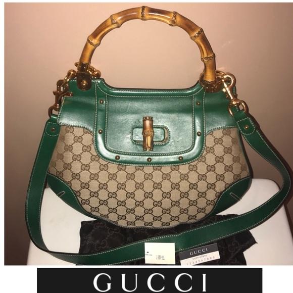 4e906389ba57 Gucci Bags | Leather Bamboo Handle Peggy Bag | Poshmark